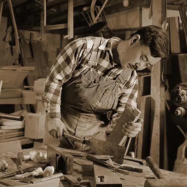 George Nakashima in his workshop