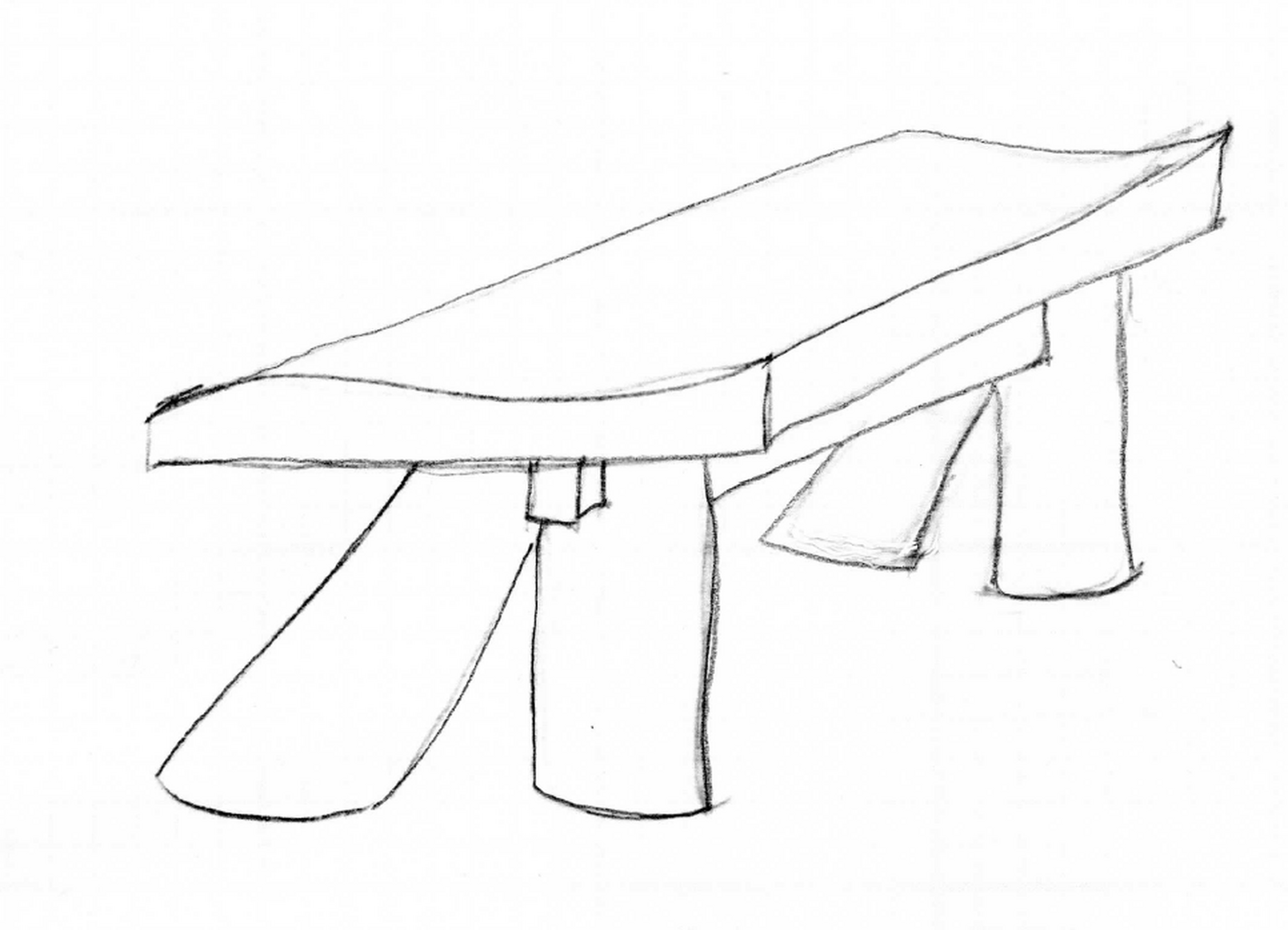 Michael Puryear Sketch for Bench