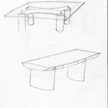Michael Puryear Sketch for Tables