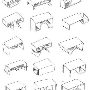 Neda Moshg Foroush Coffee Table sketches