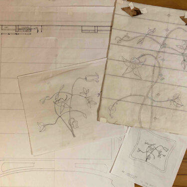 Sharon Mehrman Thread Chest sketches of inlays