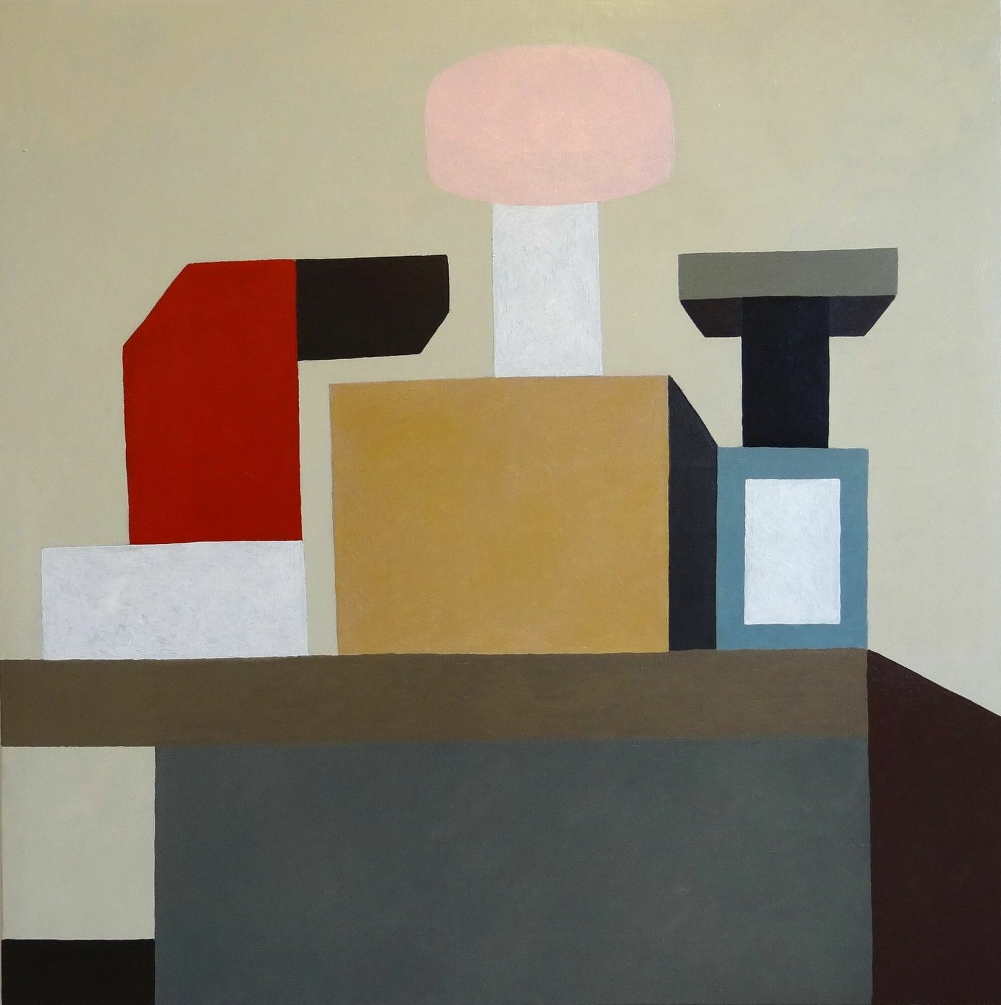 Painting by Nathalie Du Pasquier Untitled 2016 Oil on canvas