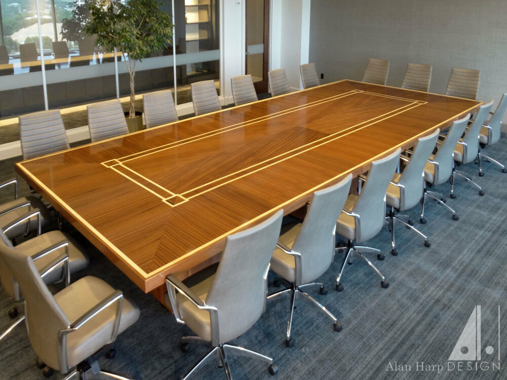 Sapele and Maple Conference Table