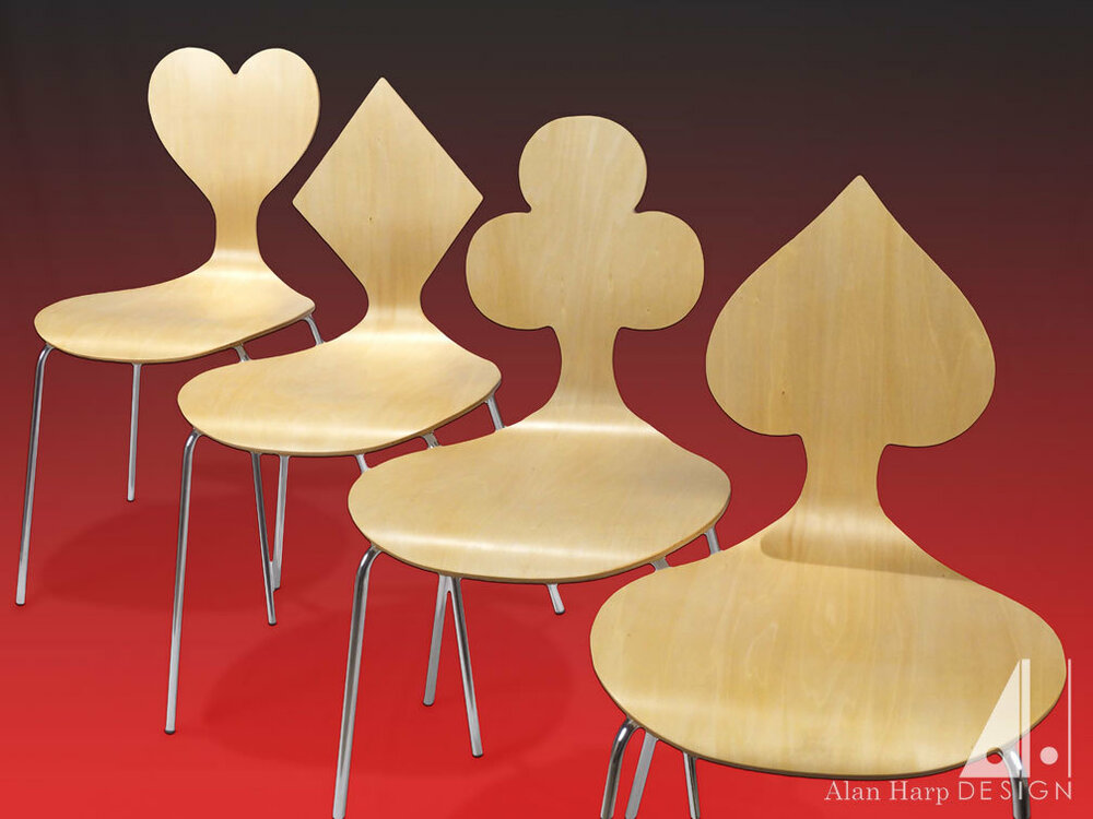 Card Suite themed chairs