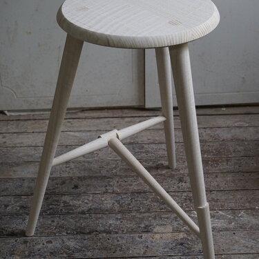 Bleached oak stool