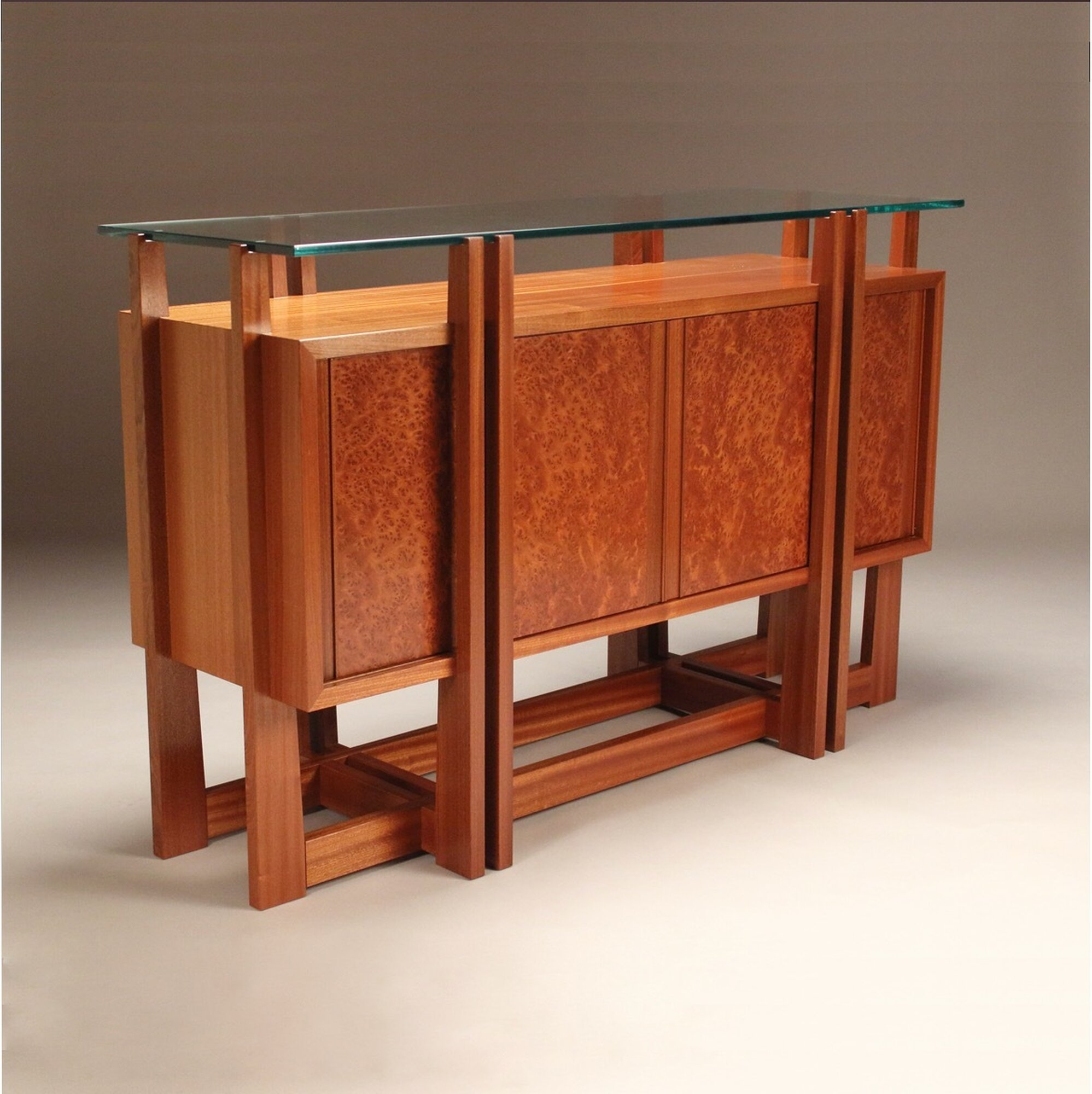 New Moon Floating Glass Credenza
