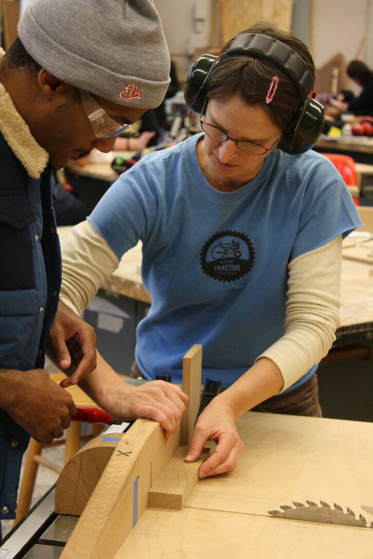 Teaching in the IUP Woodshop
