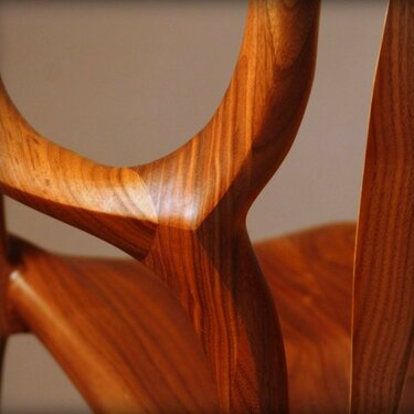 Walnut Rocker arm elbow