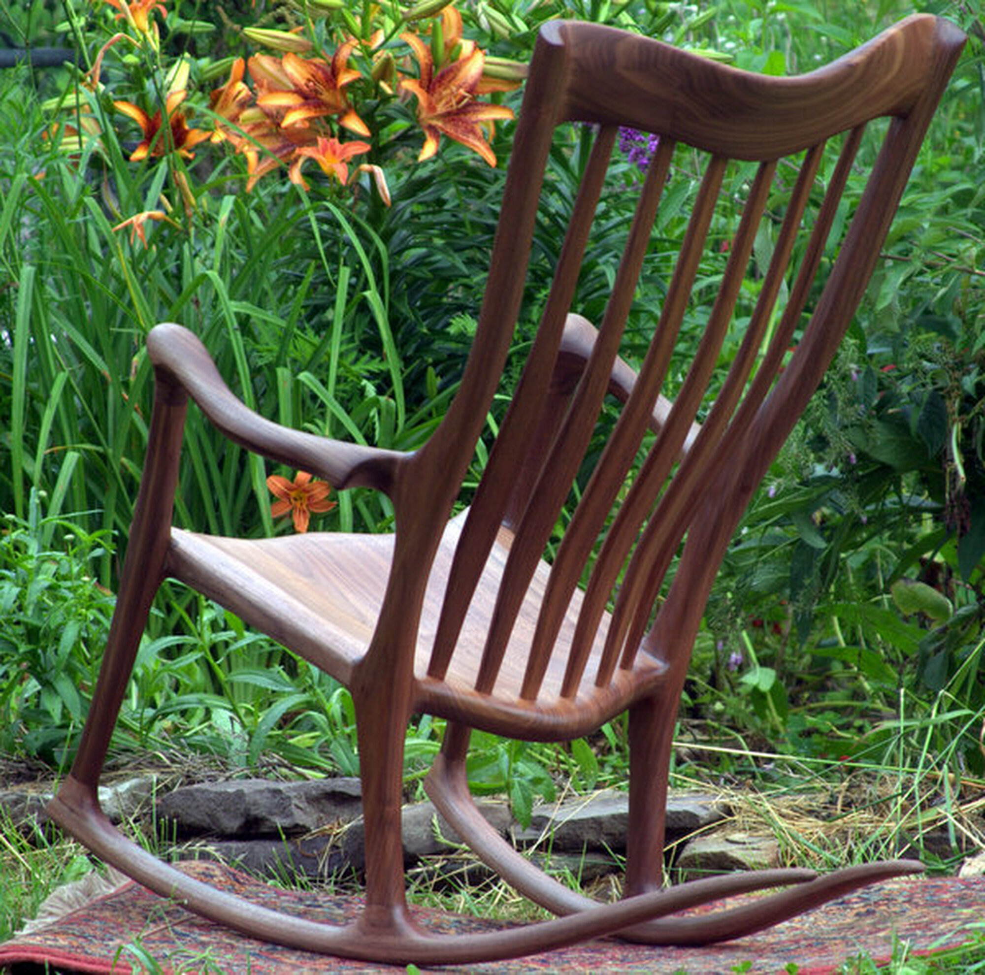 Pennsylvania Black Walnut Rocker