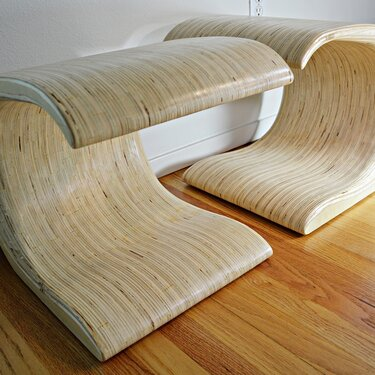 Wave ottomans