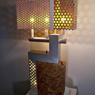 Perforated lamp