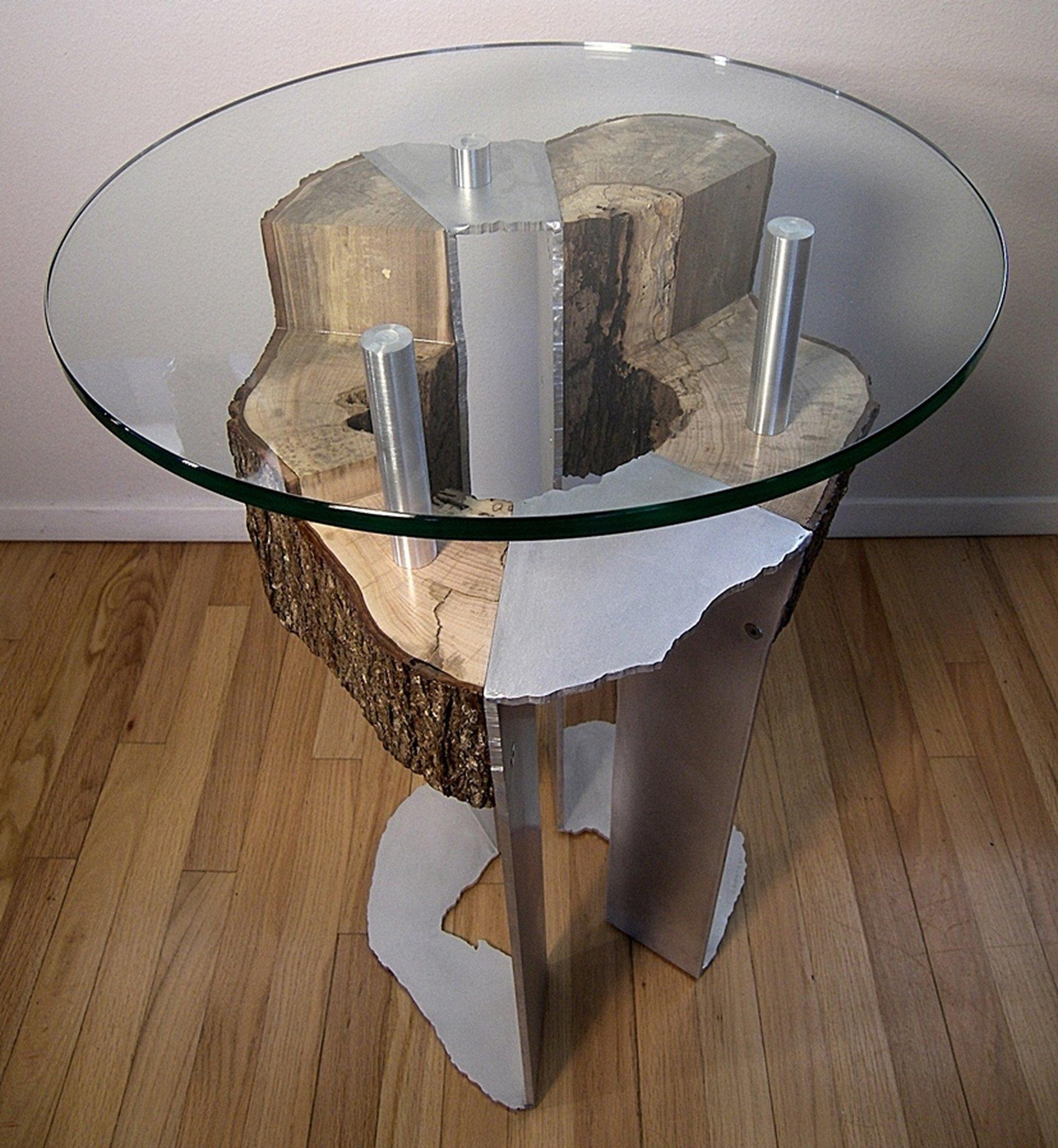 Maple stump table 2
