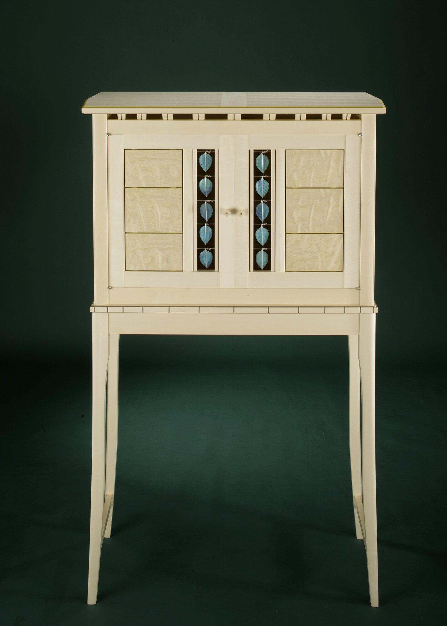 Holly Silver Leaf Cabinet