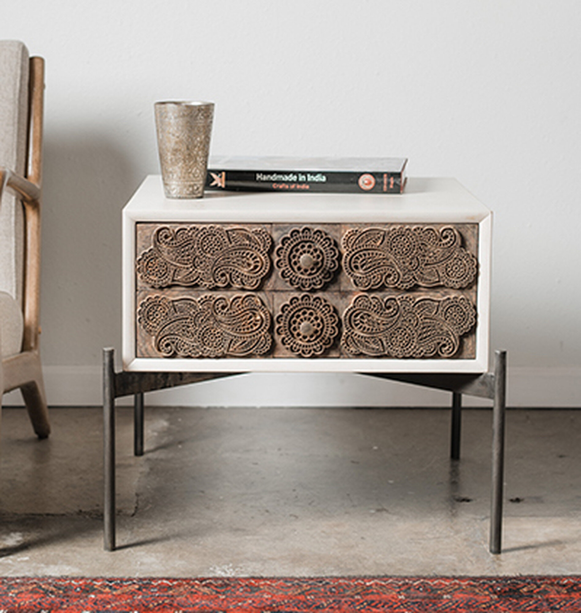 Ajrak end table
