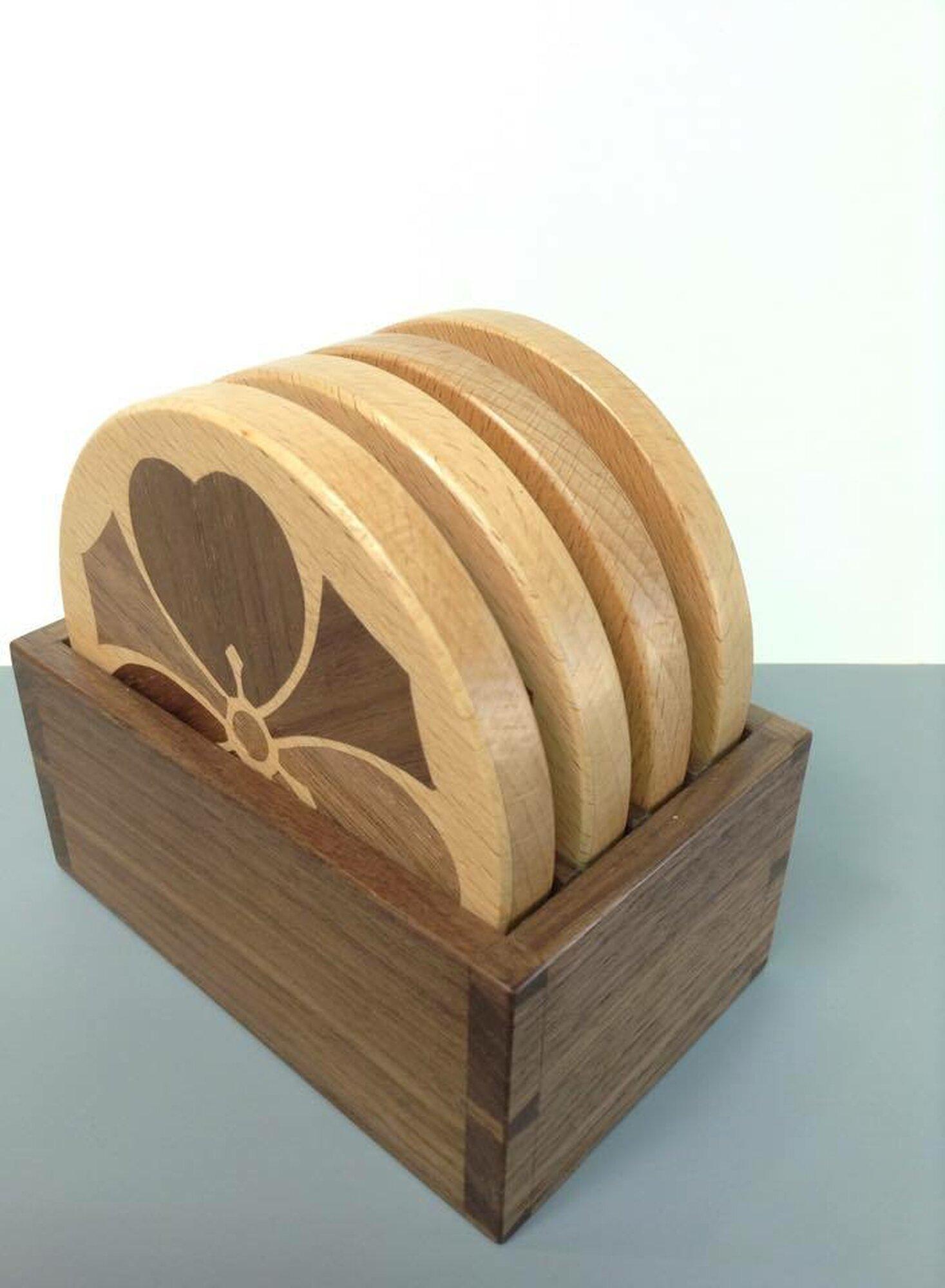 Wood Sorrel Kamon Coasters