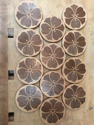Wood Sorrel Kamon Coasters (2)