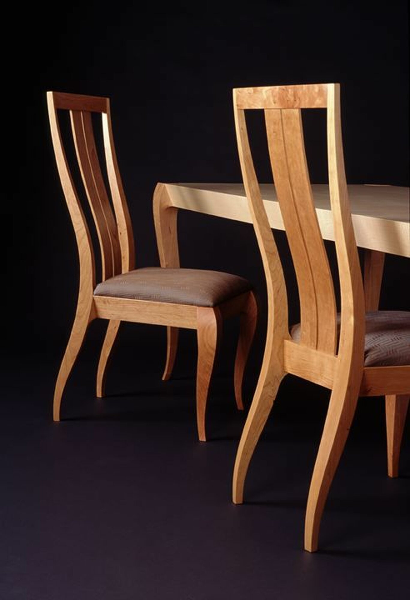 Gazelle Chairs and Gazelle Dining Table