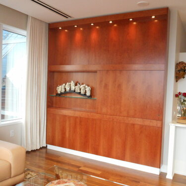 built-in cabinet for a flat screen TV