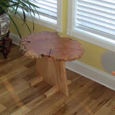 Side Table: Maple Burl