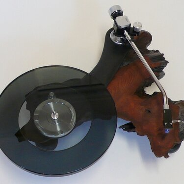 Redwood Burl Turntable