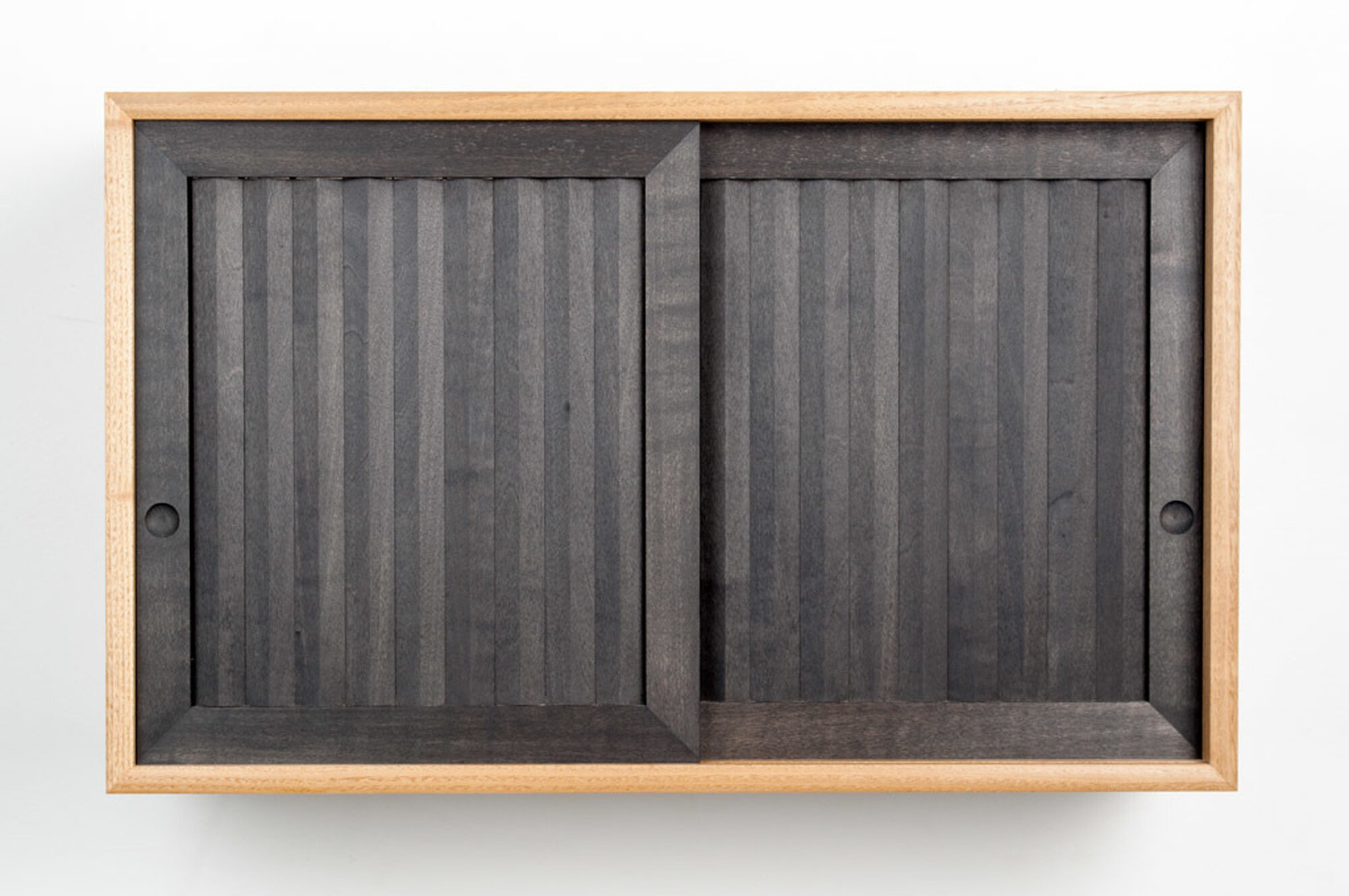 Pleated wall cabinet