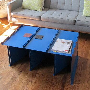 Tabby flat pack steel coffee table, 2014
