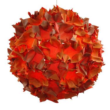 Puff pendant light in two tone orange mesh, 2006