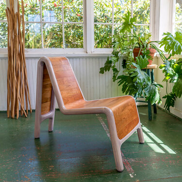 Slat Form Lounge Chair