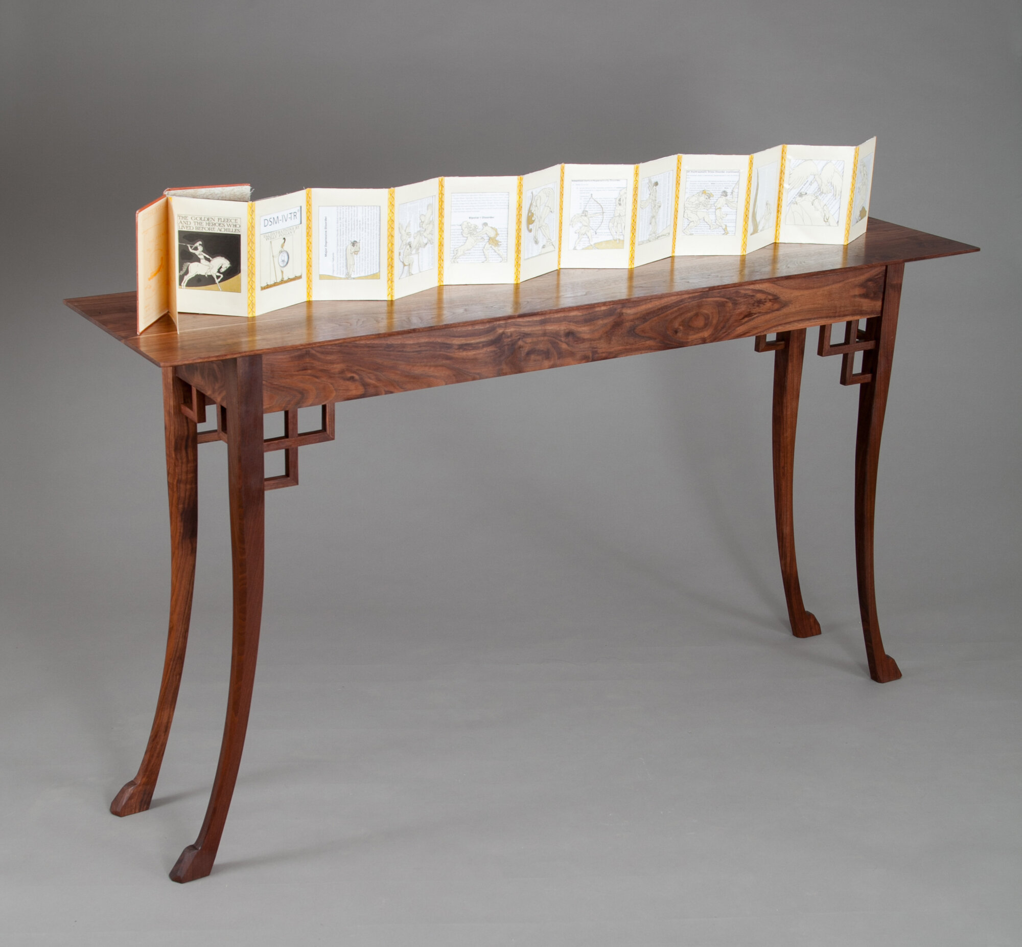 Gallery Table displaying hand made book