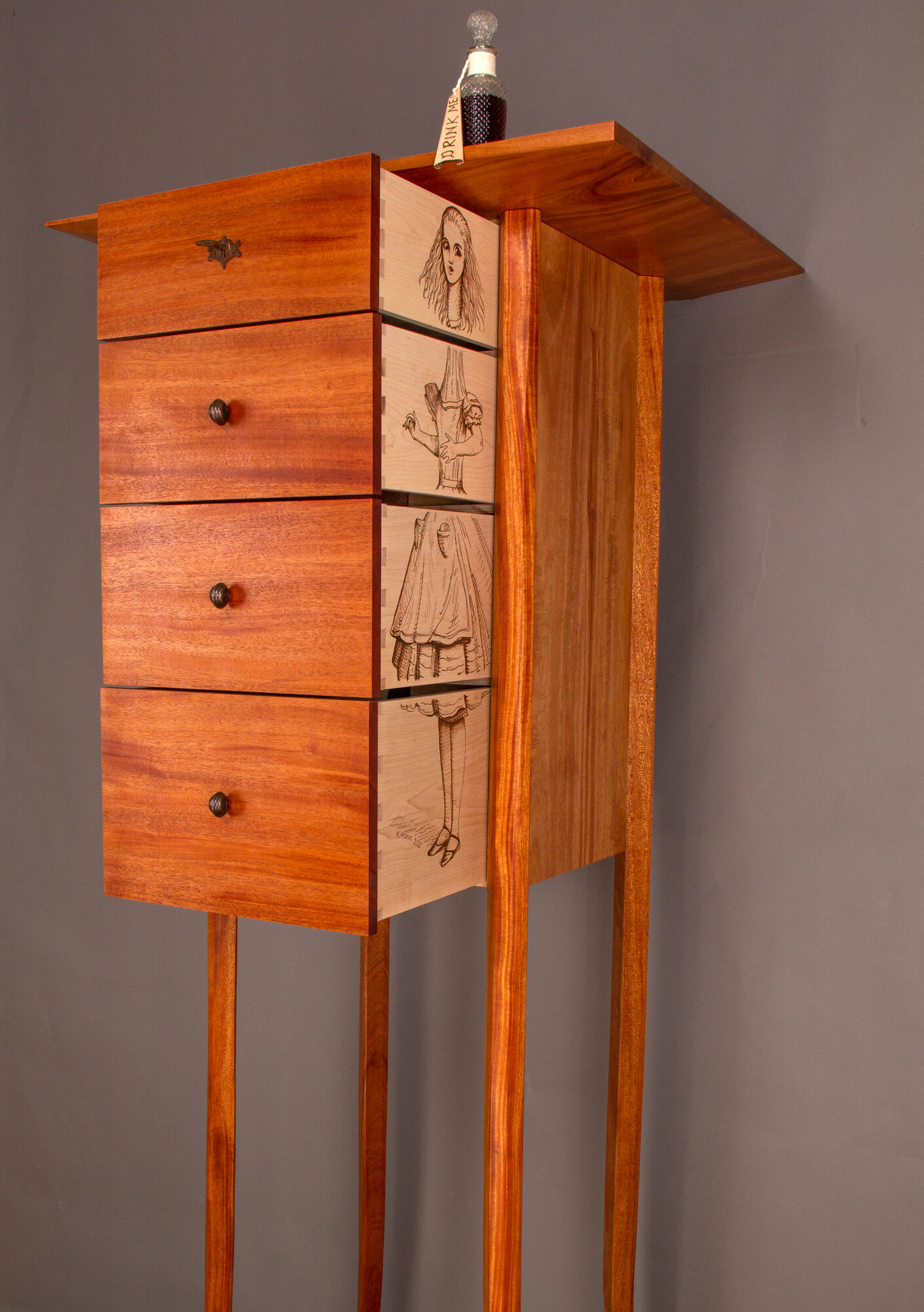 Alice Chest of Drawers-- Detail, Tall Alice