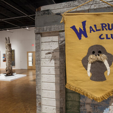 Sasso03 Walrus Club JMKAC Installation View Tapestry