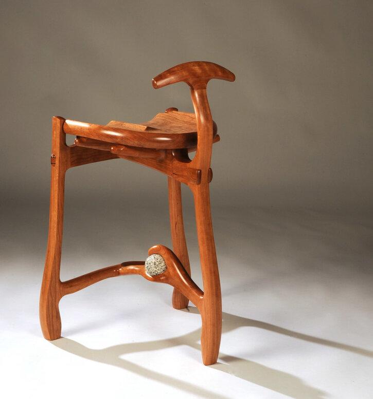Cherry 3 legged stool