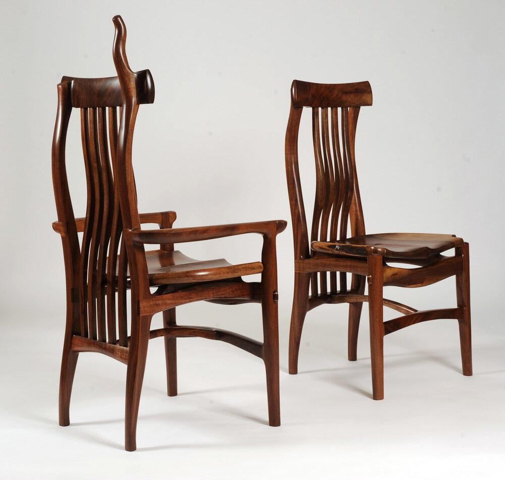 Walnut dining chairs