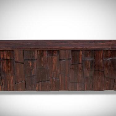 Ebony Block-Piece Sideboard