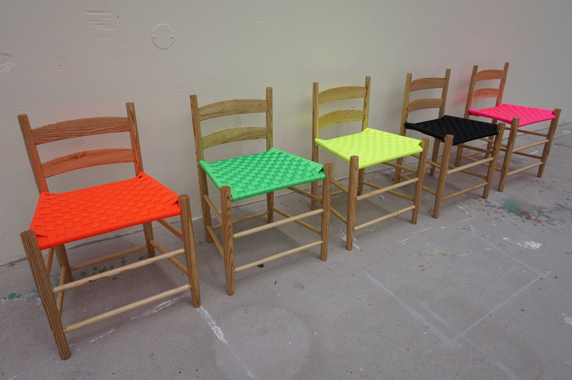Neon Shaker Lowback Chairs