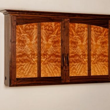 Maple Burl Wall Cabinet