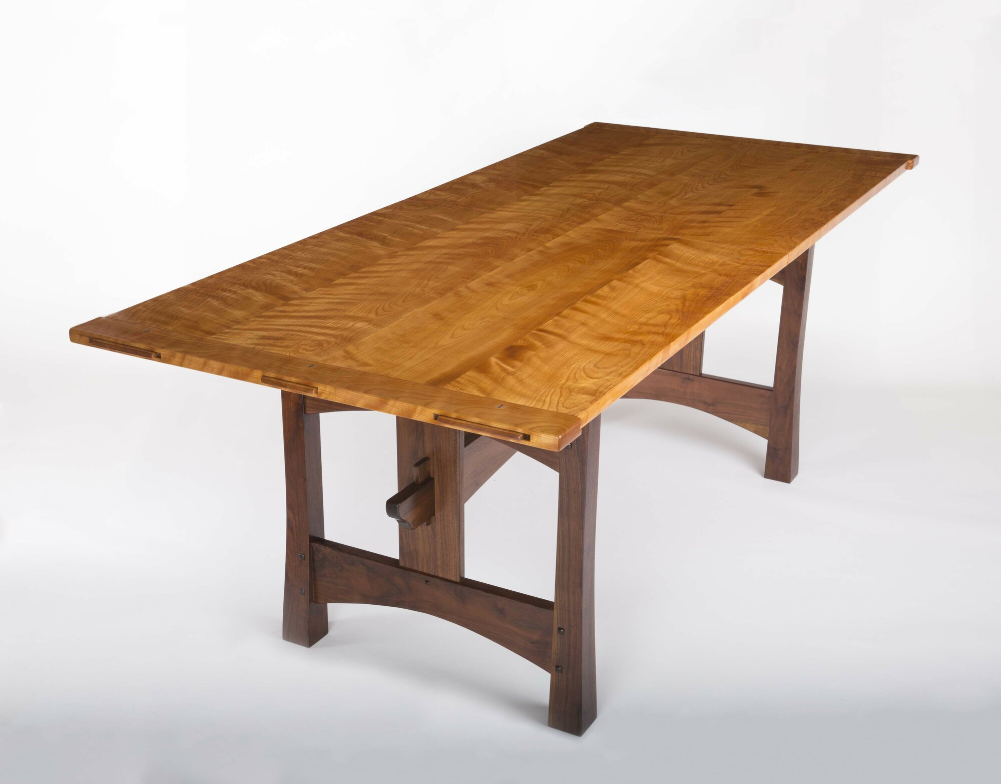 Flamed Birch Dining Table