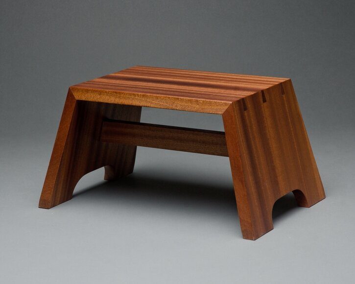 Sapele step stool