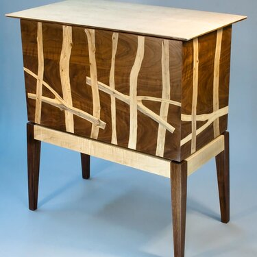 Standing Wood Chest