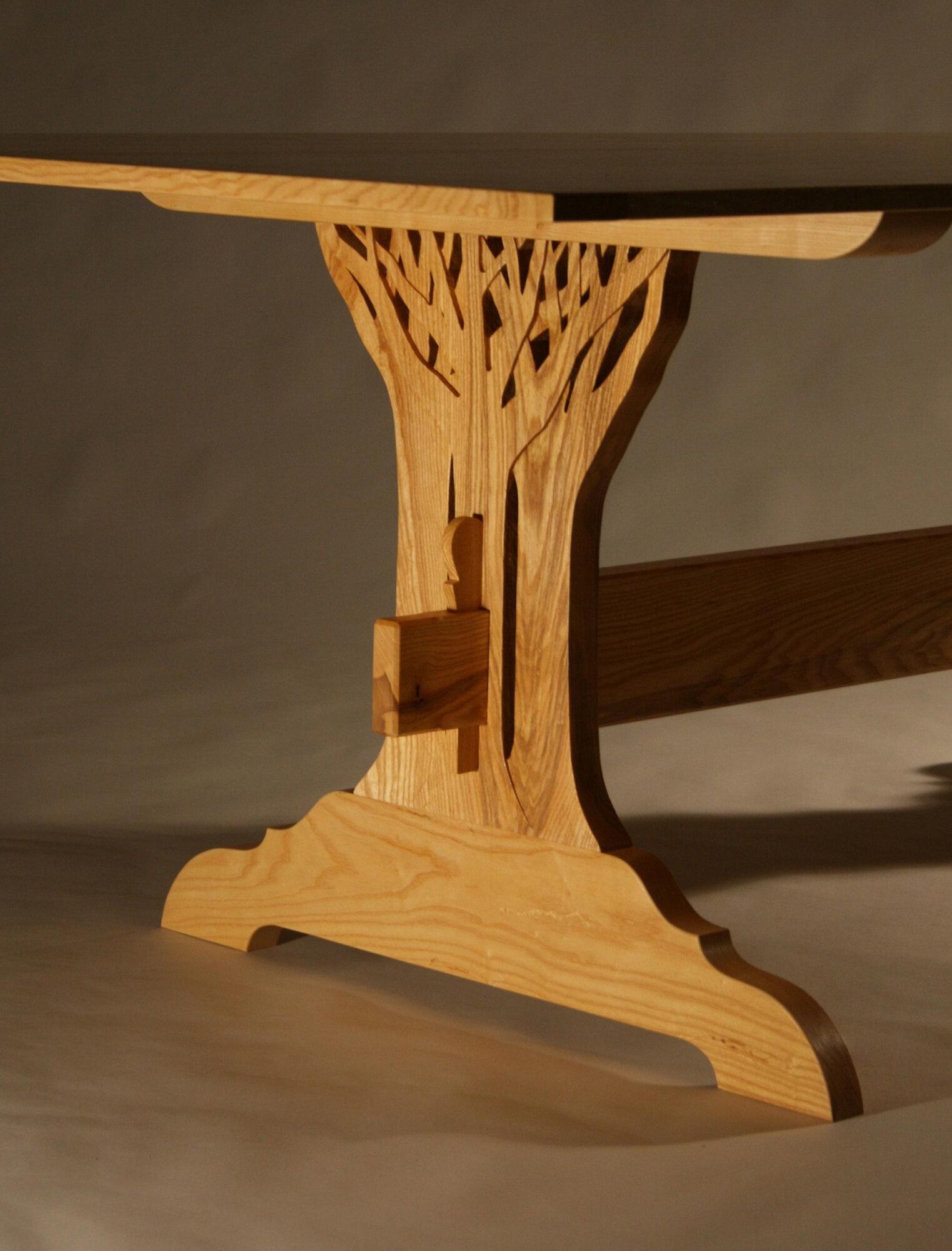 Tree Trestle Table Detail
